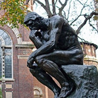 The Thinker (Le Penseur) of Auguste Rodin at Columbia University, New York, NY, USA