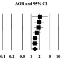Forest plot of the association between H. pylori and pancreatic cancer