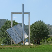 Theodore Papagianni sculpture at the University of Ioannina, Greece